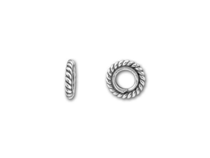 Bali Silver Thin Spacer of Twisted Wire