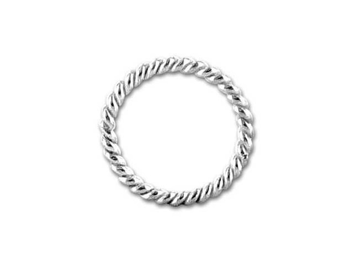 Bali Silver Twisted 6.5mm Closed Jump Ring