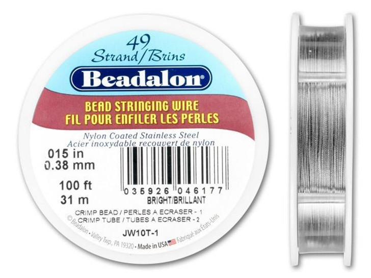 Beadalon 49 .015 100FT - Bright
