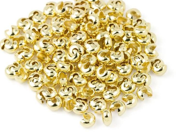 Beadalon 6mm Gold-Plated Crimp Covers (144 Pcs)