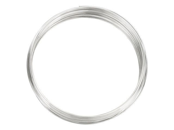 Beadalon Silver-Filled 925/10 Wire Round 22 Gauge Half Hard - Approx .5 troy oz (18 Feet)