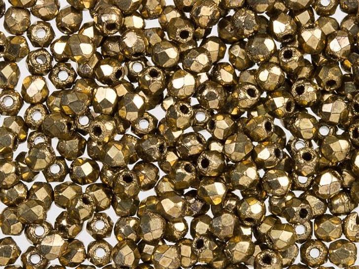 Fire-Polished Bead 2mm Bronze (50pc Strand) by Starman