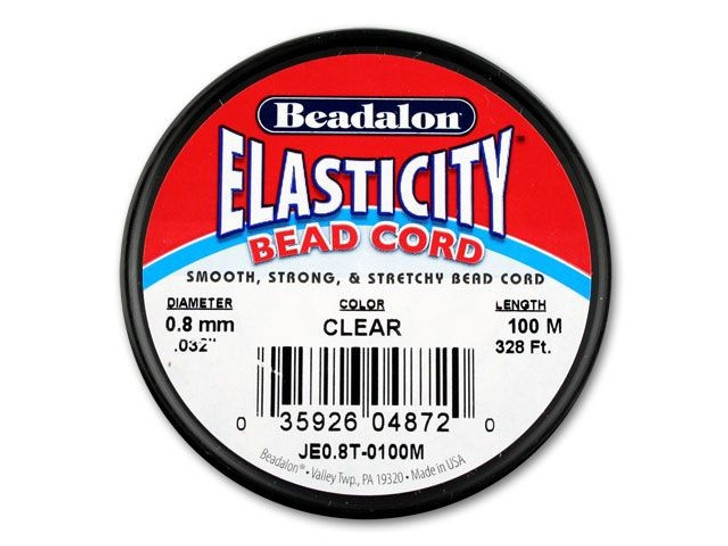 100-Meter Beadalon Elasticity 0.8mm Clear