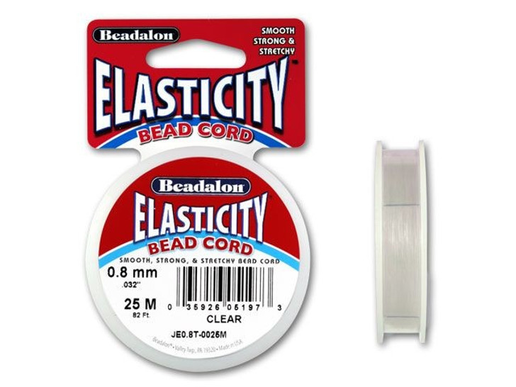 Beadalon Elasticity 0.8mm Clear 25M