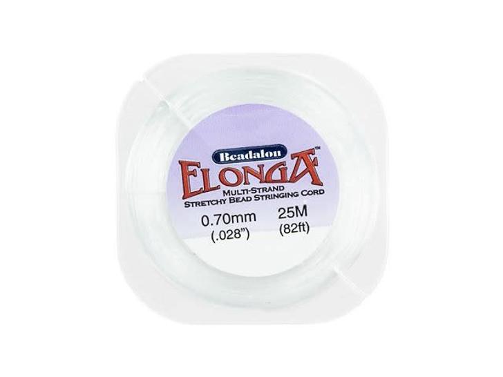 Beadalon Elonga White Multi-Strand Stretch Cord - 0.7mm (25 meters)