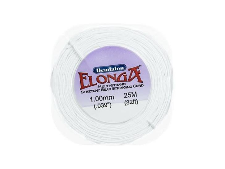 Beadalon Elonga White Multi-Strand Stretch Cord - 1.0mm (25 meters)