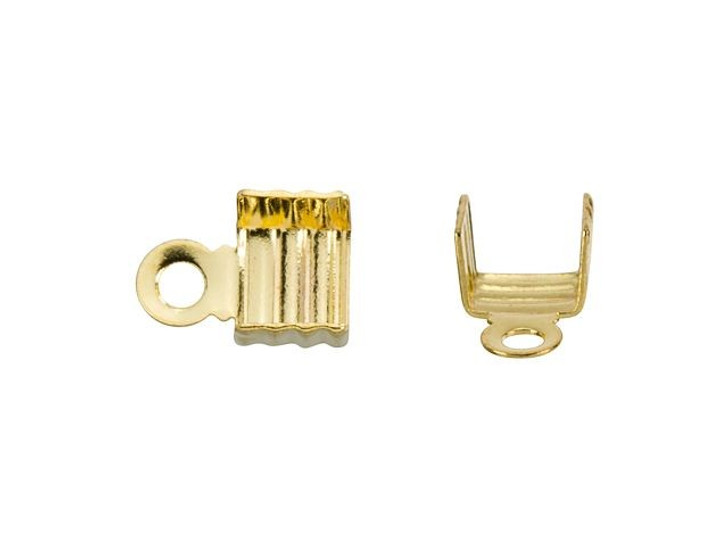 Beadalon Gold-Plated Brass Fold-Over Crimp End
