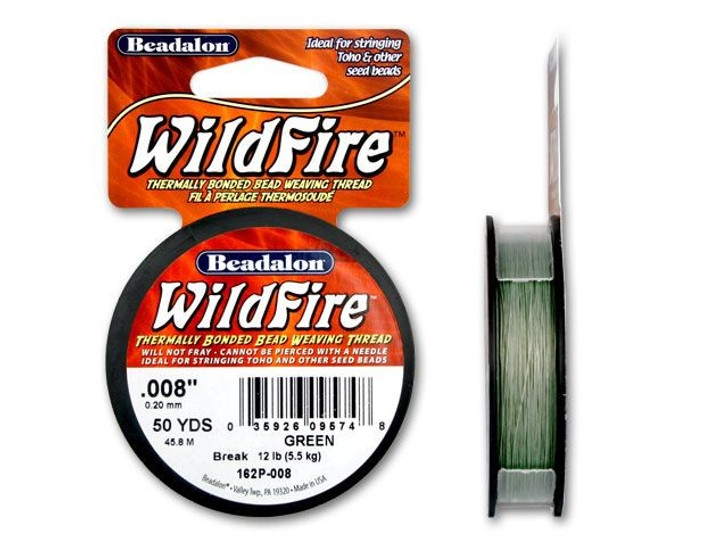 Beadalon Green WildFire - 50 Yards, .008-Inch (12-Pound Test)