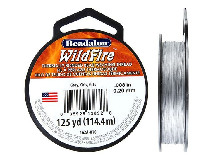 Beadalon Grey WildFire - 125 Yards, .008-Inch