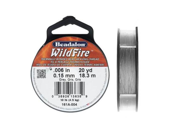Beadalon Grey WildFire - 20 Yards, .006-Inch