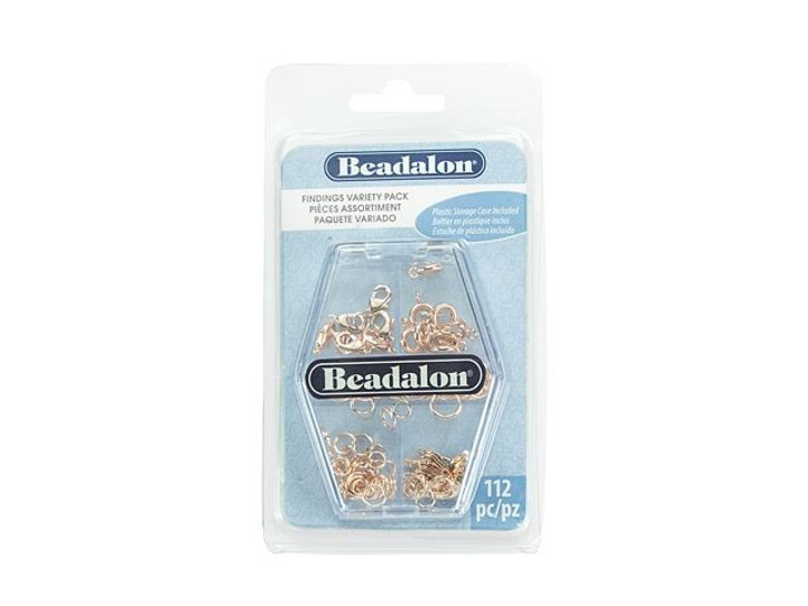 Beadalon Rose Gold Color Findings Variety Pack