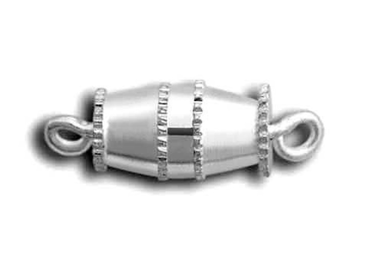 Beadalon Silver-Plated Medium Barrel Clasp