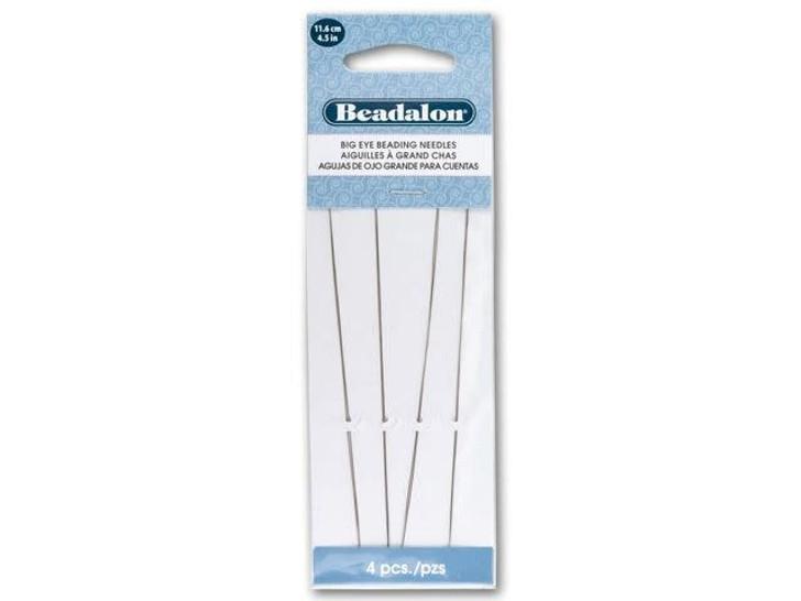 Beadalon Stainless Steel Big Eye Needles 4.5 Inch (Length 4 Pack)