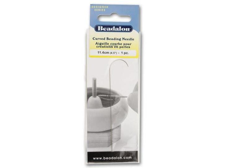 Beadalon Stainless Steel Curved Beading Needles 1-Pack