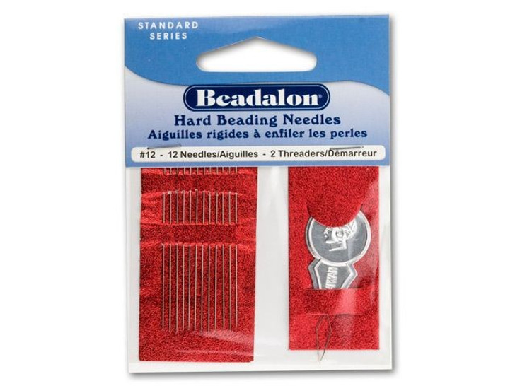 Beadalon Stainless Steel Rigid Beading Needles Size 12 (12 Pack)