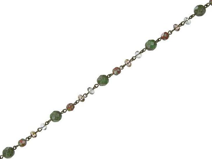 Beadlinx Desert Crawl Beaded Oxidized Brass Chain By the Foot