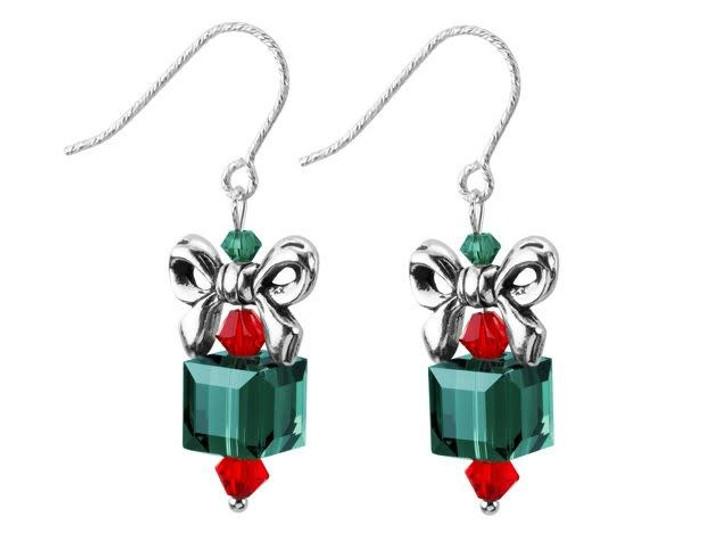Bow Topper Earrings Kit - Green