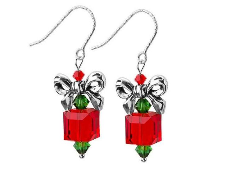 Bow Topper Earrings Kit - Red