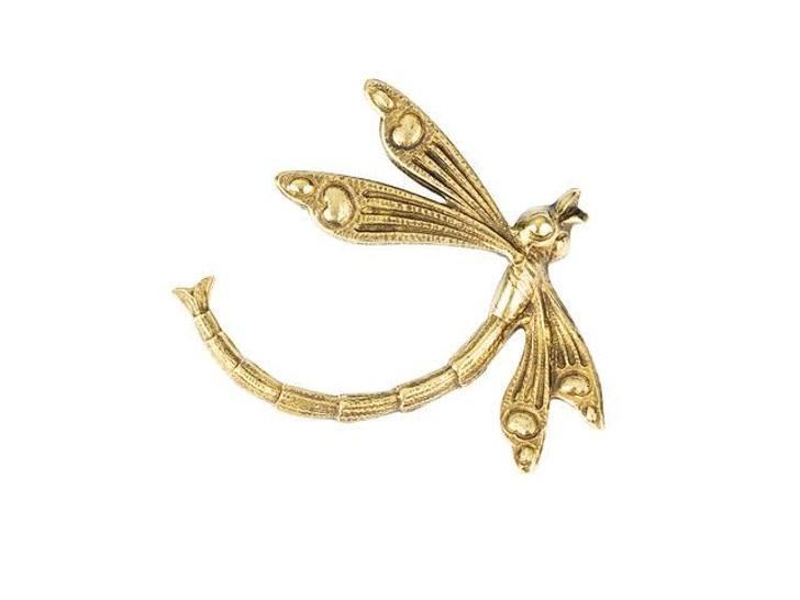 Brass Deco Dragonfly Embellishment