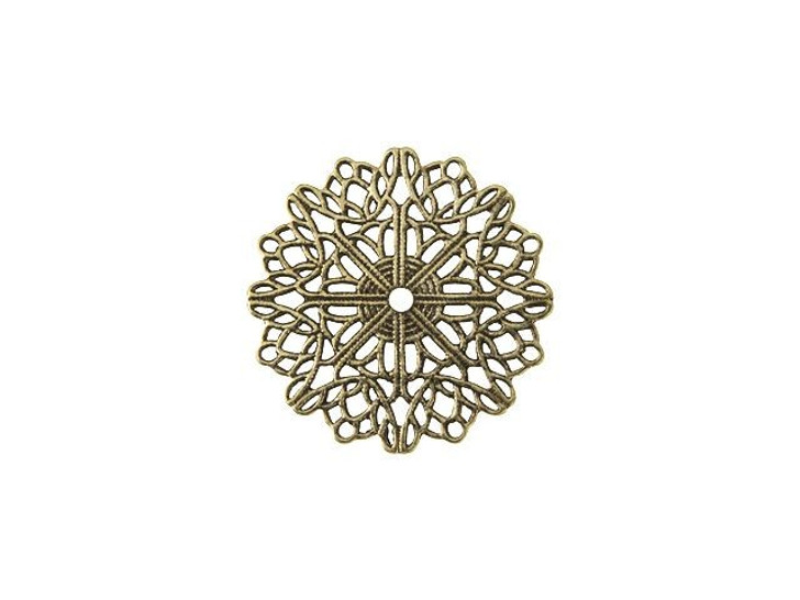 Brass Filigree Doily Embellishment