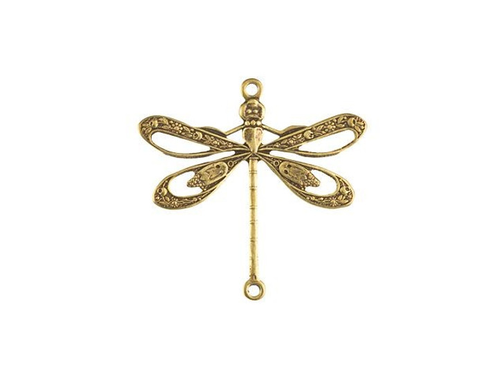 Brass Floral Dragonfly Link