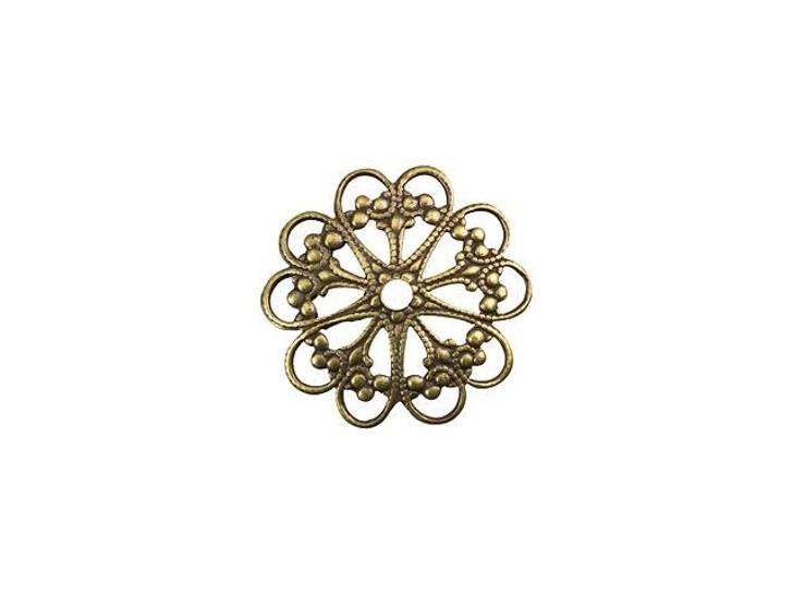 Brass Round Fancy Link