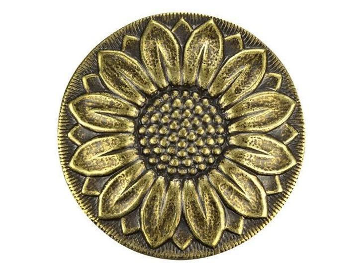 Brass Sunflower Disc Embellishment