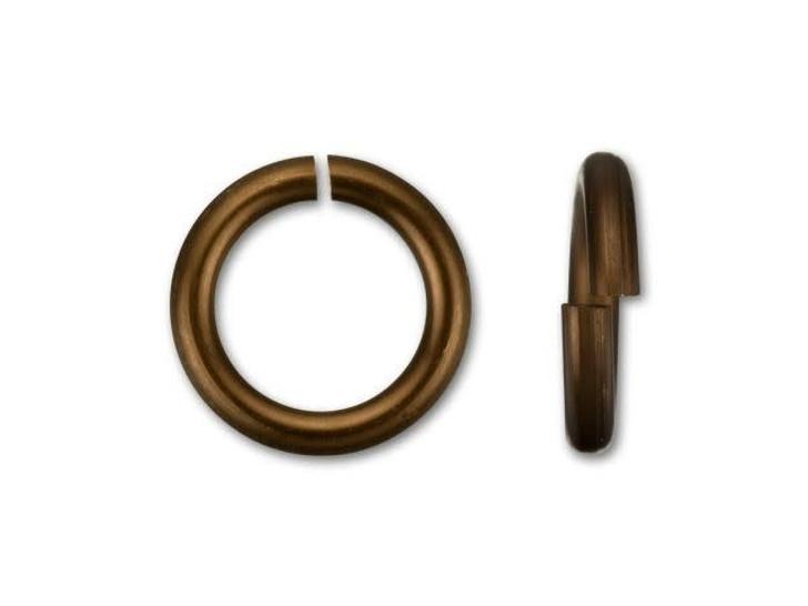 Bronze Anodized Aluminum 7.5mm 18 gauge Open Jump Ring