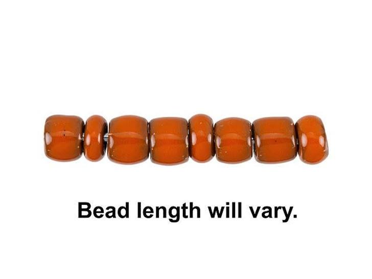 Clay River Designs 5mm Roundel Glazed Stoneware Bead - Tangerine