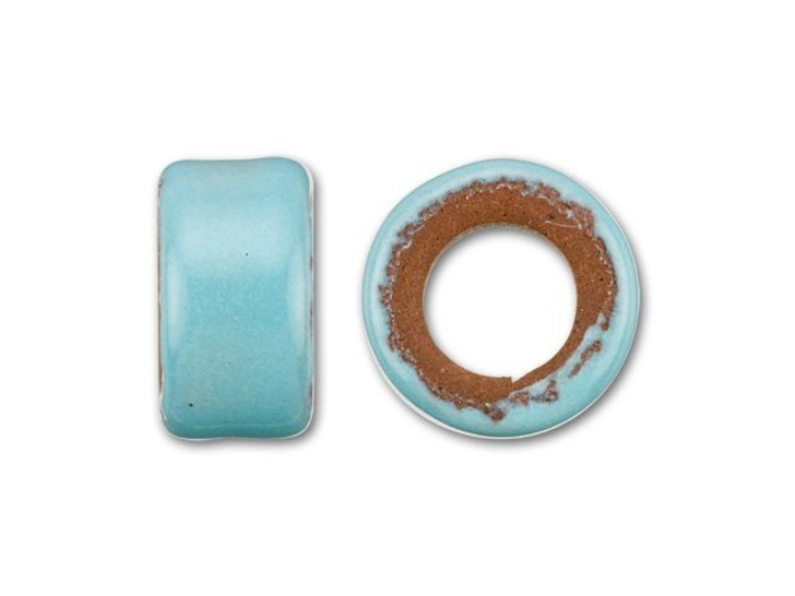 Clay River Designs Porcelain 5mm Pony Slider Beads - Aqua Fresca