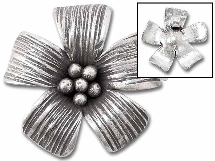 Hill Tribe Silver 5-petaled Flower Pendant