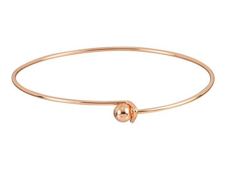 Copper-Plated Add-a-Bead Bracelet Bangle