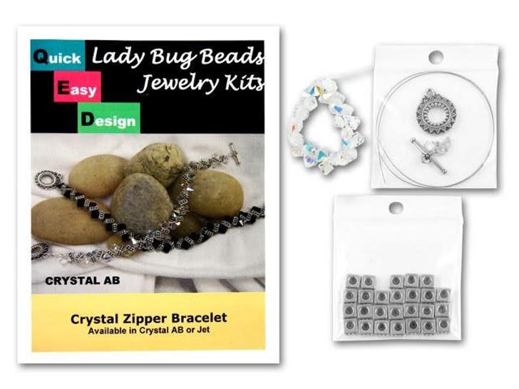 Crystal AB Zipper Bracelet Kit
