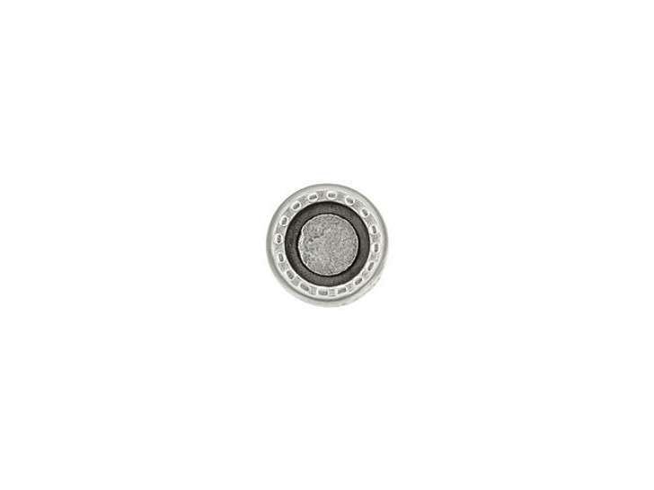 Cymbal Amos Antique Silver-Plated Bead Ending for 8/0 Miyuki Round, Bag of 10