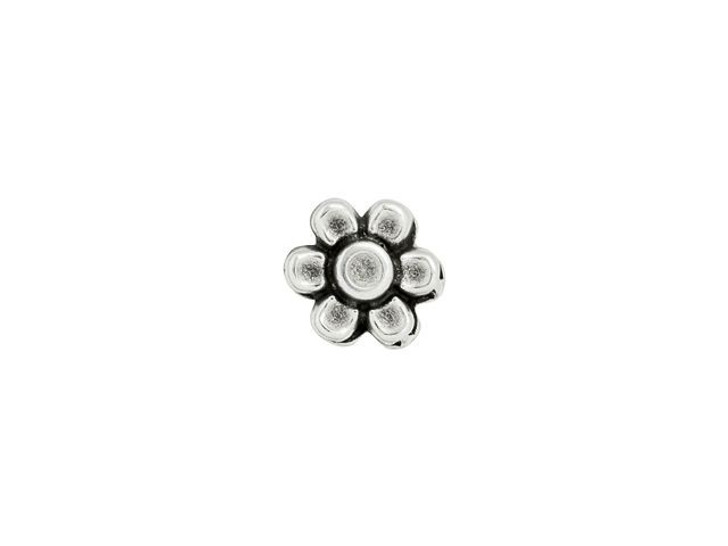 Cymbal Amoudi Antique Silver-Plated Bead Substitute for 8/0 Miyuki Round, Bag of 10