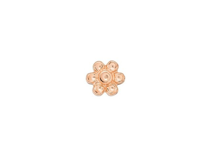 Cymbal Amoudi Rose Gold-Plated Bead Subtitute For 8/0 Miyuki Round, Bag of 10