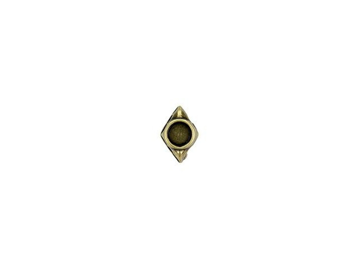 Cymbal Areti Antique Brass-Plated Bead Subtitute For GemDuo, Bag of 12