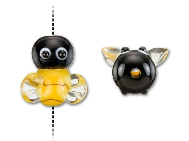 Honey Bee Lampwork Bead