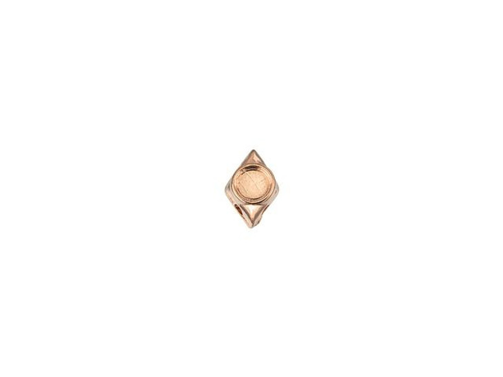 Cymbal Areti Rose Gold-Plated Bead Subtitute For GemDuo, Bag of 12