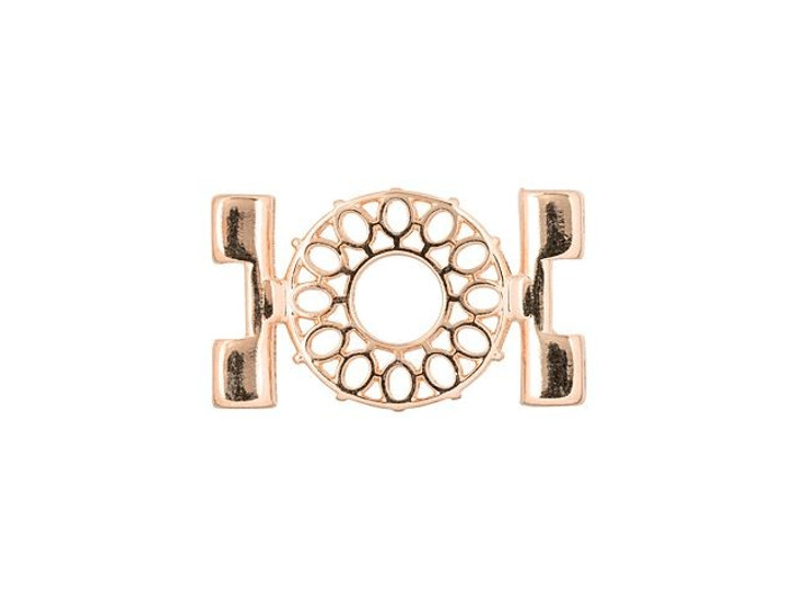 Cymbal Detis Rose Gold-Plated Bead Connector For Tila, Bag of 4