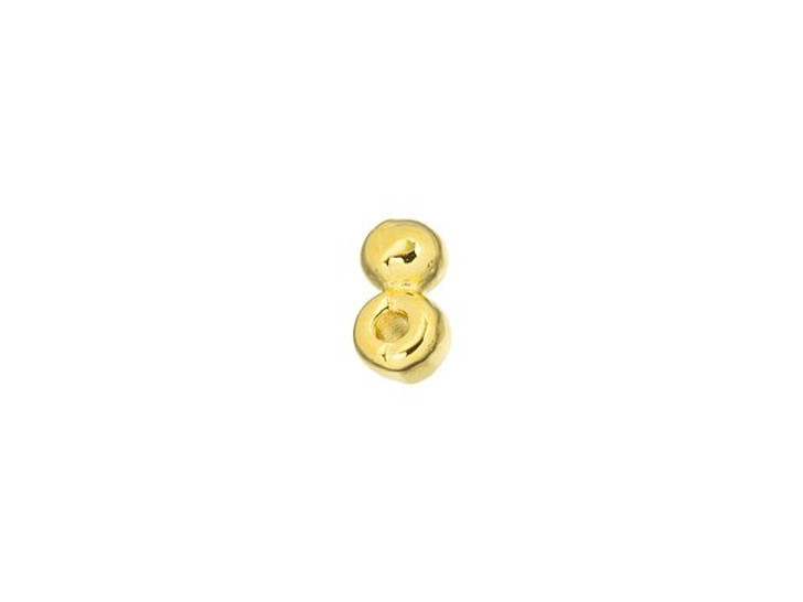 Cymbal Elasa 24K Gold-Plated Bead Substitute for 8/0 Miyuki Round, Bag of 24