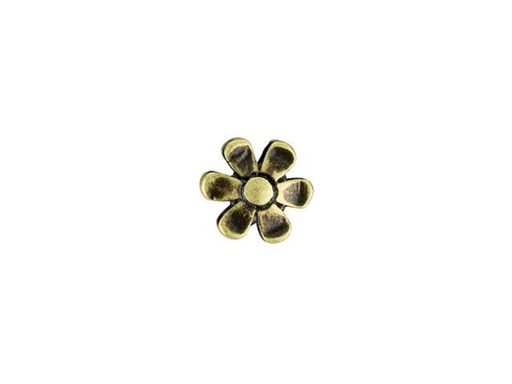Cymbal Gerani Antique Brass-Plated Bead Subtitute For 11/0 Miyuki Round, Bag of 10