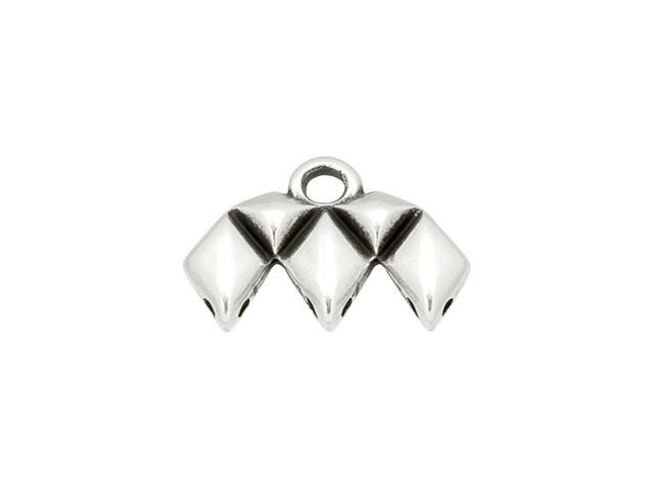 Cymbal Kalamos III Antique Silver-Plated Bead Ending for GemDuo, Bag of 10