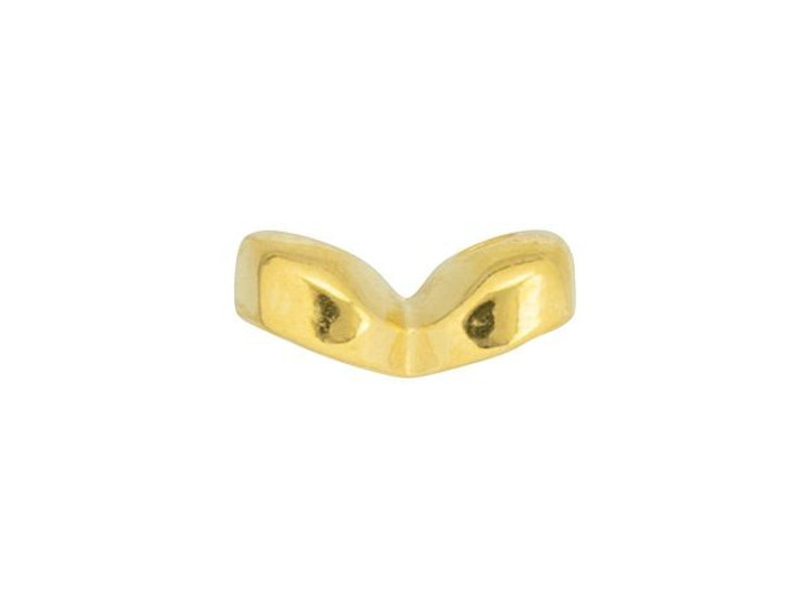 Cymbal Kaparia 24K Gold-Plated Side Bead for SuperDuo, Bag of 24