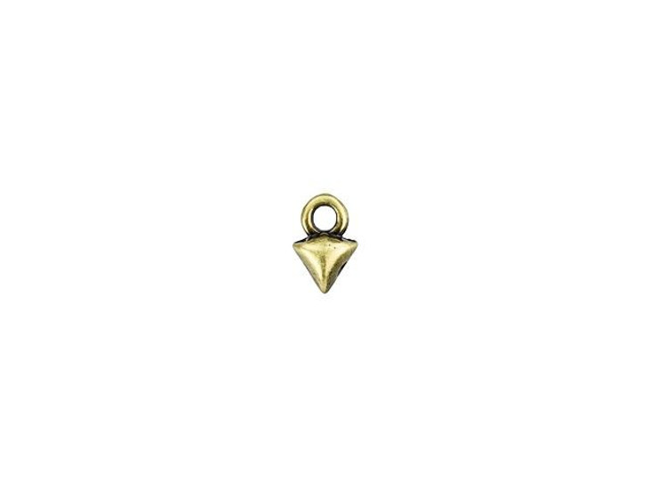Cymbal Kleftiko Antique Brass-Plated Bead Ending For GemDuo, Bag of 20