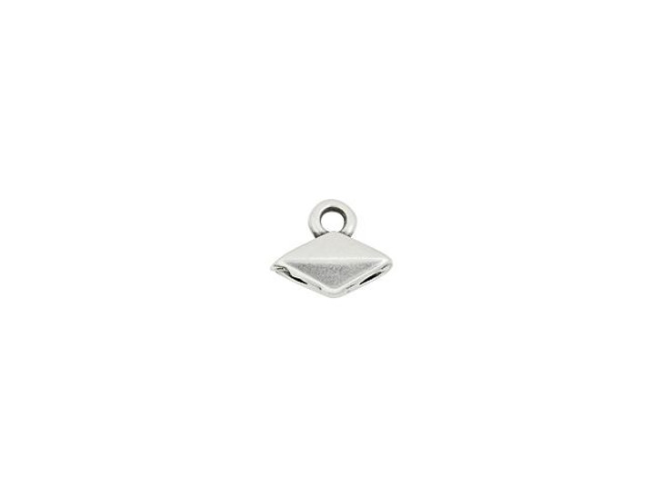Cymbal Komia Antique Silver-Plated Bead Ending for GemDuo, Bag of 20