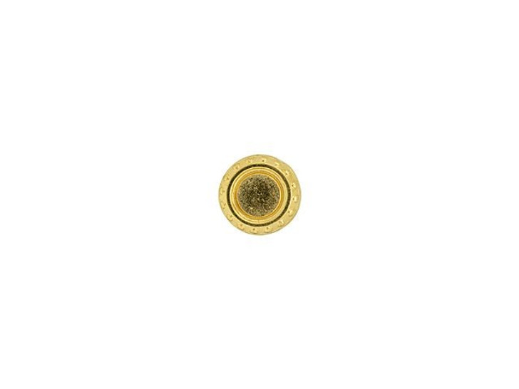Cymbal Loutro 24K Gold-Plated Bead Substitute for 11/0 Miyuki Round, Bag of 10