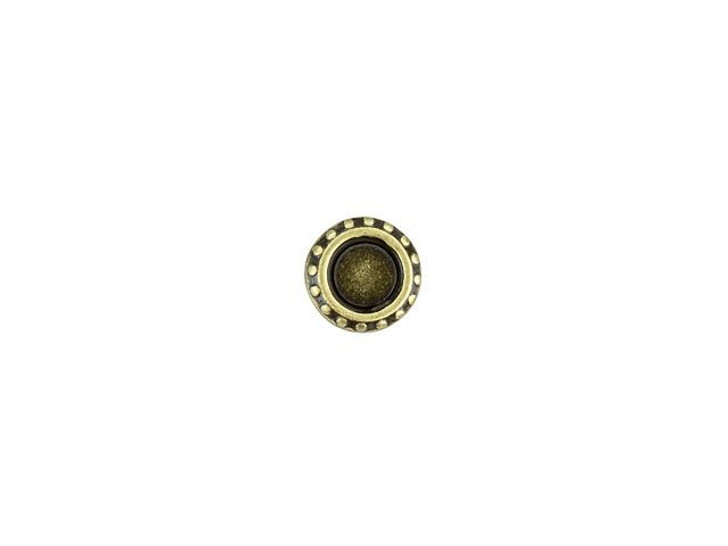 Cymbal Loutro Antique Brass-Plated Bead Subtitute For 11/0 Miyuki Round, Bag of 10