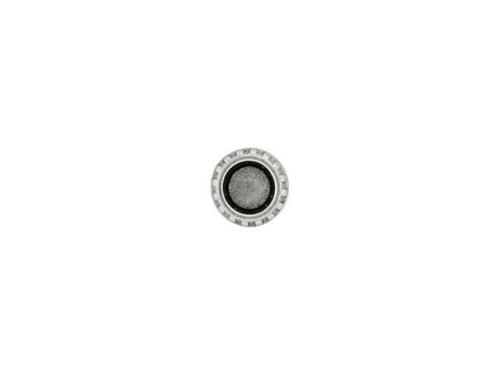 Cymbal Loutro Antique Silver-Plated Bead Substitute for 11/0 Miyuki Round, Bag of 10