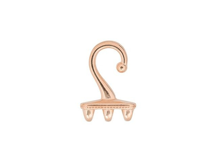 Cymbal Mesaria III Rose Gold-Plated Bead Ending Hook For SuperDuo, Bag of 4